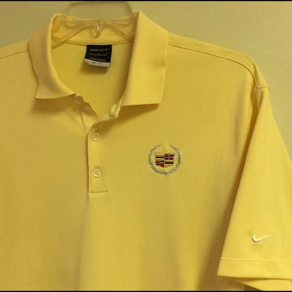 Nike Shirts Cadillac Yellow Polo Shirt Poshmark